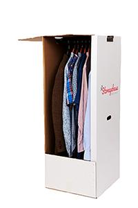 Wardrobe cardboard box for moving