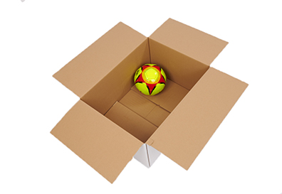 Wide cardboard box for moving house
